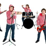 One man band isolated on white